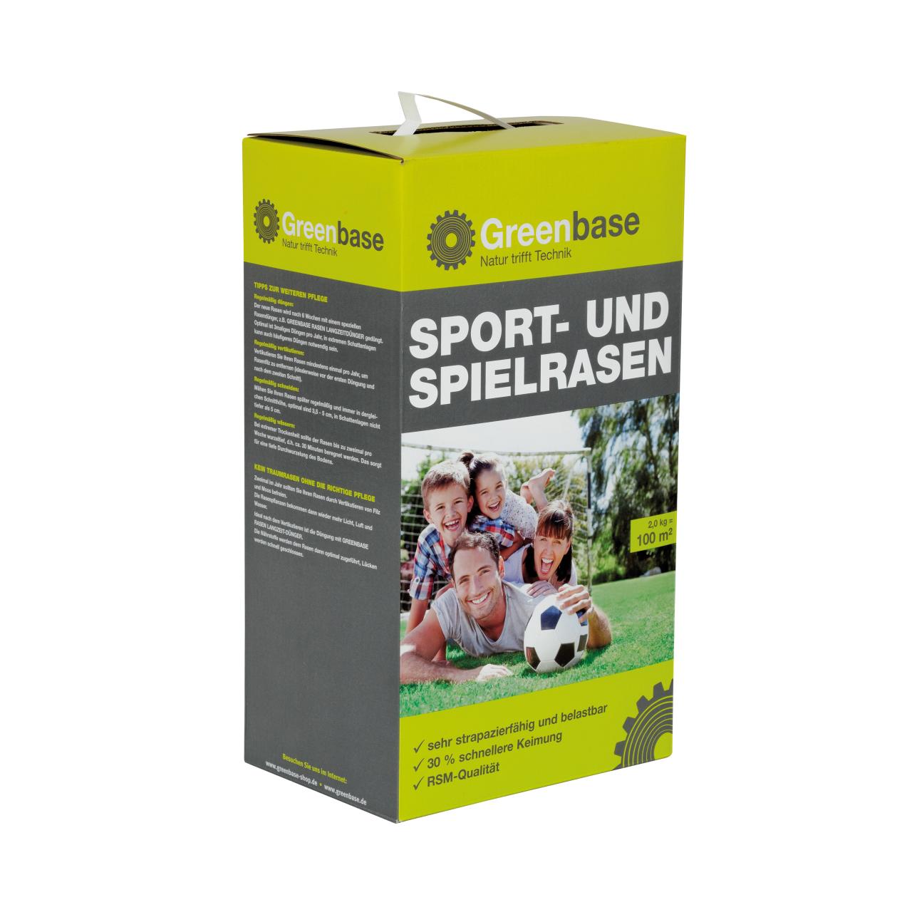 Sport und Spielrasen für 100 m²