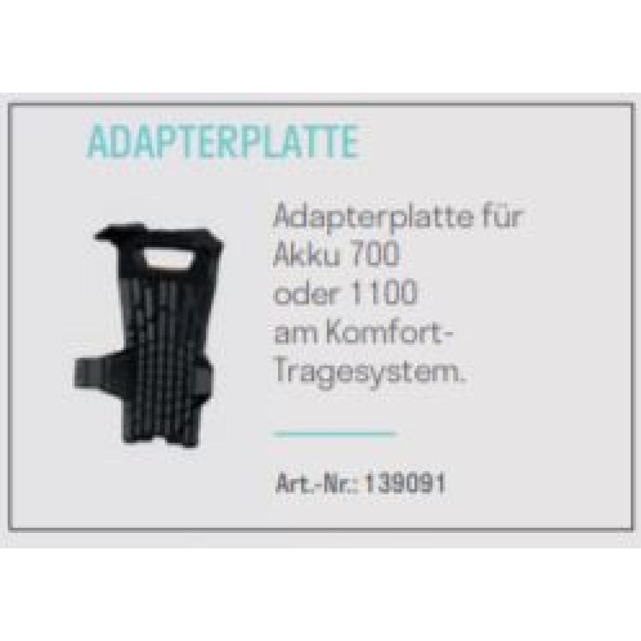Adapterplatte ULiB 700/1100 für Komfort-Tragesystem ULiB 1200/1500
